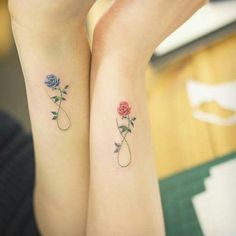 Roses and infinity tattoos.