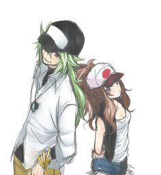 N and Touko of Pokemon Black and White. #PokemonBW #Ferriswheelshipping #N #Touko