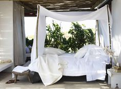 Outdoor bedroom.