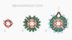 FREE Pattern for Earrings PAVO | Beads Magic. Use: seed beads 11/0, twin or superduo beads, drop beads, bicone beads 4mm. Page 2 of 2
