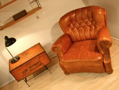 Chesterfield Sessel Cognacfarben...!