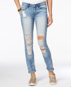 Rewash Juniors' Girlfriend Skinny Jeans