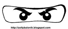 Lego Ninjago printable mask.