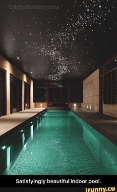 Satisfyingly beautiful indoor pool.