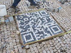 QR Code calçada Portuguese pavement Work Roc2c pavement