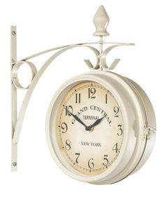 Zegar dwustronny RALA śr.21cm biały w JYSK.