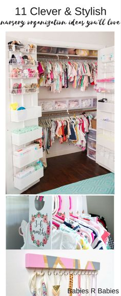 Keep your baby's nursery organized with these 11 clever and stylish nursery organization ideas.