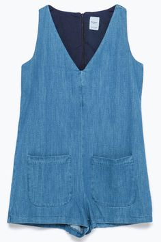 5 chic rompers perfect for summer to shop now: dress this denim Zara romper up or down all summer long.