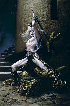 Michael Whelan: Elric demonslayer.