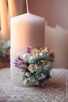 """Свадебные аксессуары ручной работы. Свечи шебби """"Домашний очаг"""" четырехцветная гамма. HANDYBONN. Ярмарка Мастеров. Шебби палитра Homemade Candles, Diy Candles, Scented Candles, Pillar Candles, Candle Decorations, Beeswax Candles, Romantic Candles, Wedding Unity Candles, Beautiful Candles"""