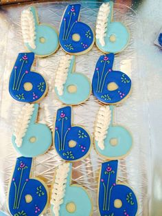 Frozen Birthday Party cookies!  See more party planning ideas at CatchMyParty.com!