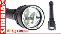 Фонась с тремя светодиодами Т6 для подводной охоты. Сравнение с фонарём ...