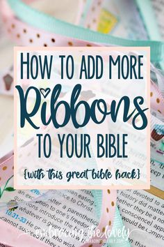 How to make Bible Ribbon Bookmarks with Embracing the Lovely