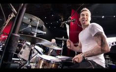 adam levine playing drums