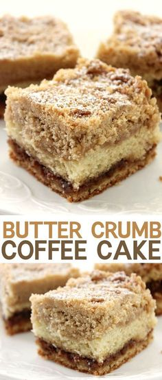 Butter Crumb Coffee Cake....ooohhh this looks delicious! Breakfast, snack or dessert!