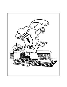 Pizza Coloring Page, Food Coloring Pages, Bear Coloring Pages, Pizza Chef, Make Your Own Pizza, Pizza Delivery, Tasty, Yummy Food, Beauty Tricks