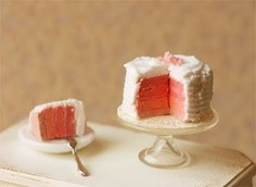 Pink Vanilla Rainbow Cake with Vanilla Buttercream.