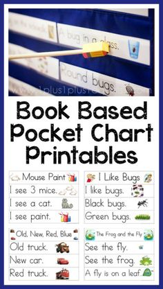 Pocket Chart Printables based on books