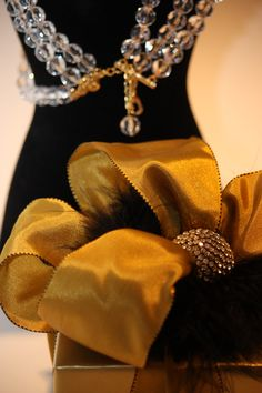 Fur Hair scrunchie with Crystal by A Gift Wrapped Life.