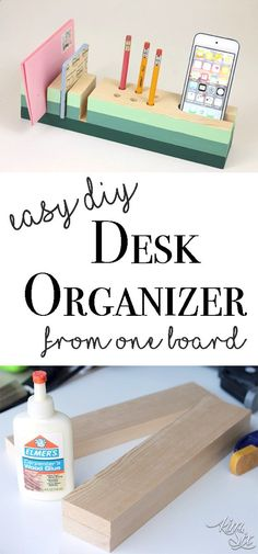 Easy DIY desk organizer from a single board A great starter woodworking project(Desk Diy Ideas)