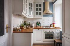 Konyha ötletek - 20 remek ötletadó konyha kisebb alapterületű lakásokból - színek, stílus, burkolatok, elrendezés