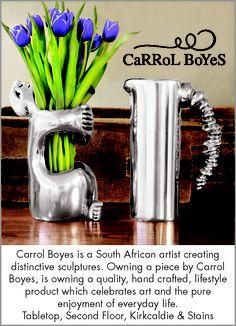 Carrol Boyes South African Decor, South African Artists, Carroll Boyes, Africa Art, African Design, Kitchen Art, Metal Art, Farmhouse, Ceramics
