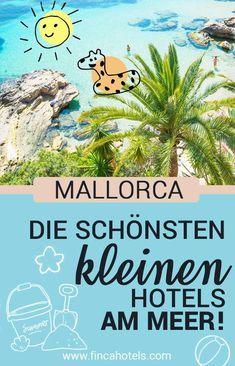 Badeurlaub auf Mallorca. Was gibt es schöneres, als mit dem Rauschen der Wellen aufzuwachen und beim Frühstück die herrliche Meeresbrise zu spüren? Wir haben dir die schönsten kleinen Hotels am Meer auf Mallorca ausgewählt. C Hotel Am Strand, Hotel Am Meer, Hotel Mallorca, Hotel Party, Hotel Logo, Hotel Architecture, Hotel Reception, Reisen In Europa, Beach Holiday