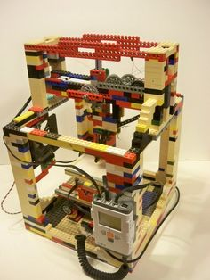 3D Printer made with Legos - http://3dPrintBoard.com