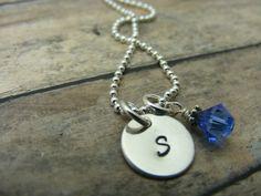 Hand stamped personalizedSterling silvertiny by mybeadedbutterfly, $23.00