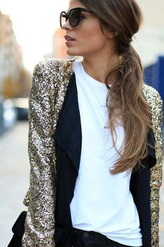How to dress down your sequins...