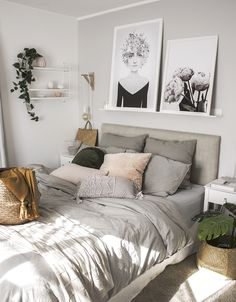Classy Bedroom Wall Decor Ideas to Style Up Your Space - The Trending House Decor Scandinavian, Home Decor Bedroom, Bedroom Ideas, Bedroom Designs, Bedroom Plants, Bedroom Furniture, Budget Bedroom, Bedroom Art, Dark Furniture