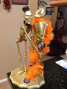 Trophy for best #Halloween couples costume. #Dollarstore finds