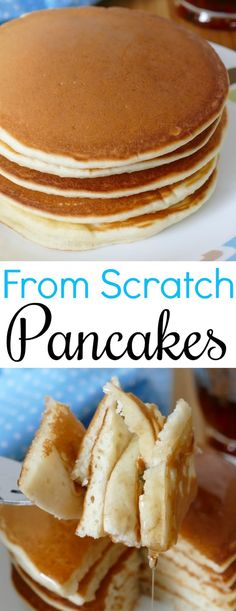 Easy Homemade From Scratch Pancakes More from my sitehow to make homemade pancakes from scratch Pancakes Vegan, Pancakes From Scratch, Pancakes Easy, Easy Homemade Pancakes, Easy Homemade Recipes, Breakfast Dishes, Breakfast Recipes, Breakfast Pancakes, Best Pancake Recipe