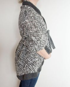 Crocheted Adult Granny Square Sweater/wrap/shawl  The wrap that is shown was made as a maternity sweater Customer can choose colors they want in variegated or flat colors  (only have one as shown)  Made to Order Turn around time 3 weeks  Please include clothing size of the adult in order  Photo Credit Mckenzie Jespersen Photography  www.facebook.com/mckenziejespersenphotography