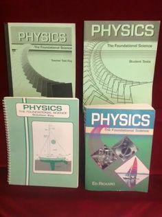 Abeka Physics Student, Solutions, Student Tests & Teacher Key, Gr. 12,1st Ed. VG #TextbookBundleKit