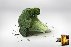 Norton anti-virus by Adham Obeid    Well, we all know what Norton anti-virus is, what it stands for, and what it does.  This campaign is there to reinforce the obvious, in a fresh and new way.    We chose vegetables that are known for strengthening the immunity system and fighting viruses, then re-created them using 3D pixels.