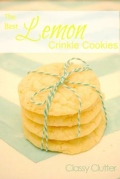 The Best Lemon Crinkle Cookies via Classy Clutter