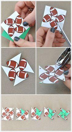 football superbowl pinwheel cupcake topper pinwheel