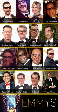 Stars Spice Up their Emmy Looks with Eyewear: http://eyecessorizeblog.com/?p=6120
