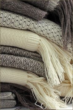 Create a comfortable space with plenty of cozy blankets. Homemade blankets add an extra special touch.
