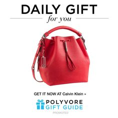 """The Daily Gift: Calvin Klein Bucket Bag"" by polyvore-editorial ❤ liked on Polyvore featuring Calvin Klein and dailygift"