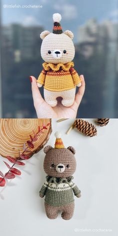 Crochet Teddy, Cute Crochet, Crochet Crafts, Crochet Dolls, Yarn Crafts, Crochet Baby, Crochet Bear Patterns, Amigurumi Patterns, Knitting Projects