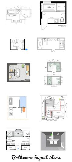 8x10 Bathroom Floor Plans