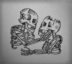 Skull Tattoo by Guilherme Hass, via Behance