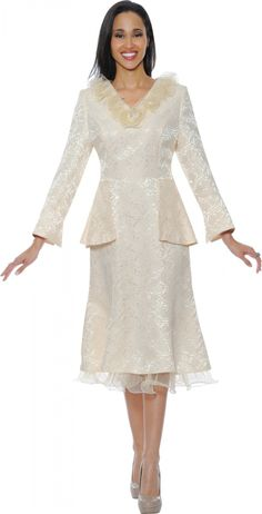 Champange Church Dresses By Nubiano - Divine Church Suits Sunday Church Suits, Women Church Suits, Church Attire, Church Dresses, Church Outfits, Fall Dresses, Suits For Women, Short Dresses, Formal Dresses