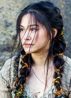 Native American Braids Collection native girl discovered aesthetics gallery on we heart it Native American Braids. Here is Native American Braids Collection for you. Native American Braids natives dont have bad hair days care for your braids. Vikings Season 4, Vikings Tv Show, Vikings 2016, Ragnar Lothbrok, Dianne Doan, How To Draw Braids, Viking Braids, Female Character Inspiration, Portraits