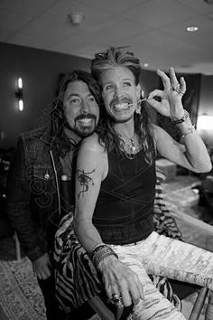 By Ross Halfin Photography. Dave Grohl and Steven Tyler