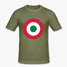 "Italia - Italy with a military twist. The shirt sports the Italian air force (Aeronautica miltare) roundel. https://shop.spreadshirt.fi/revolt-noir/""italia""-A106381500?appearance=248"