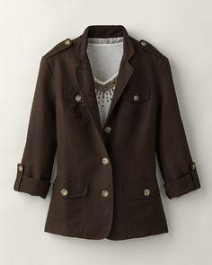 linen jacket, ladi jacket