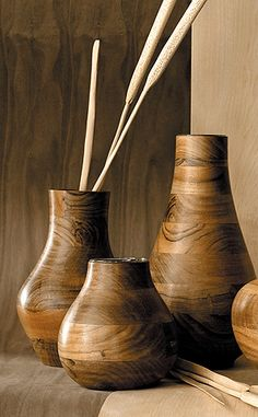 kikar wood vases | littlecloudyskye | Flickr